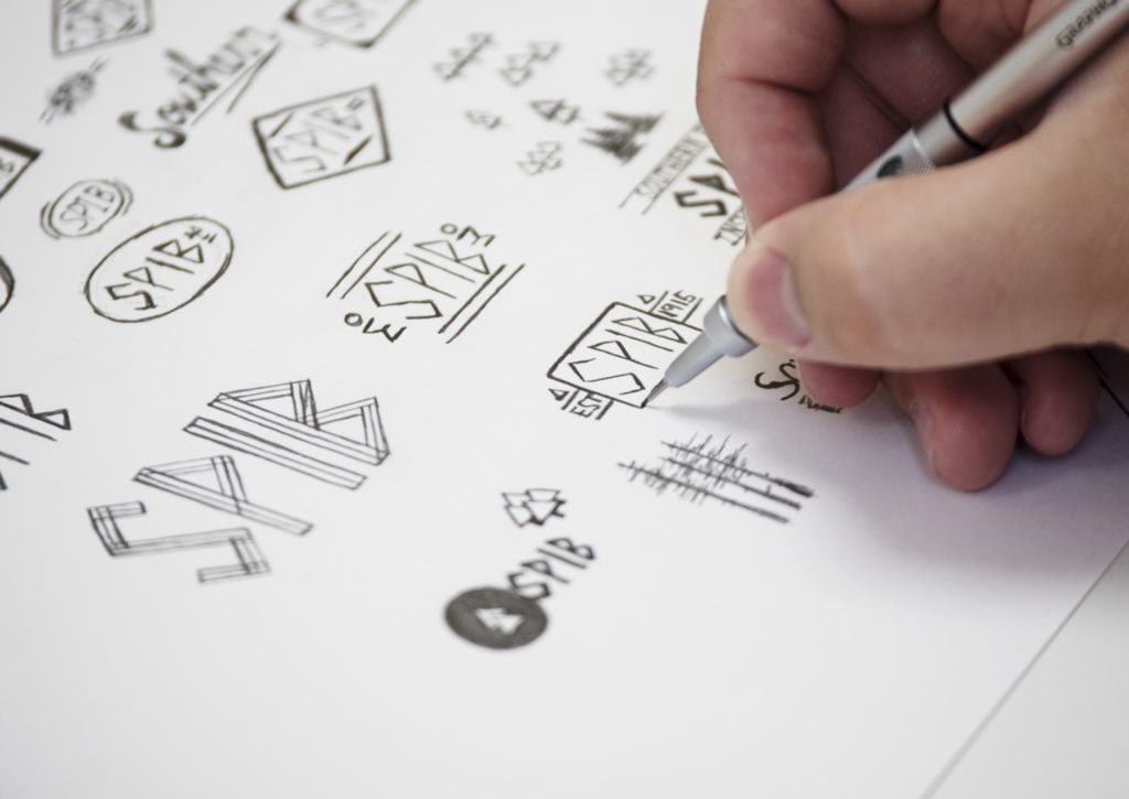 HIP Creative logo sketching