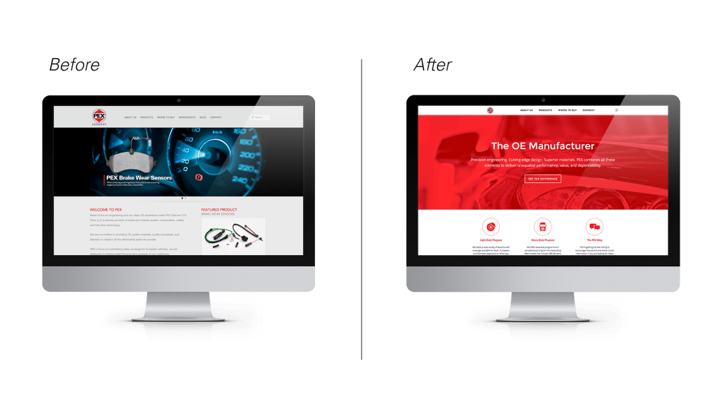 PEX before and after website